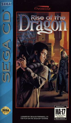 Box artwork for Rise of the Dragon.