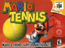 Box artwork for Mario Tennis.