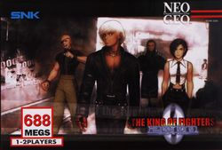 Box artwork for The King of Fighters 2000.