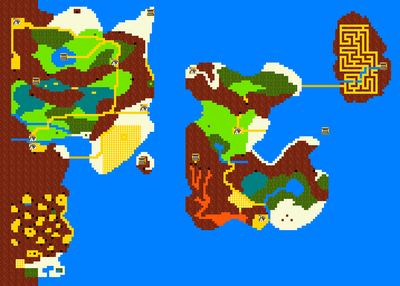 Zelda ii the adventure of linkwalkthrough strategywiki the world map click to enlarge gumiabroncs Image collections