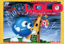 Box artwork for Adventures of Lolo (Japan).