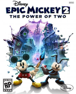 Box artwork for Epic Mickey 2: The Power of Two.