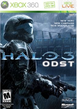 Box artwork for Halo 3: ODST.