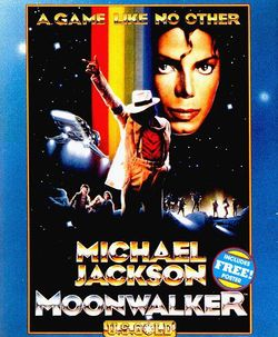 Box artwork for Michael Jackson: Moonwalker.