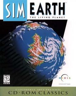 Box artwork for SimEarth: The Living Planet.