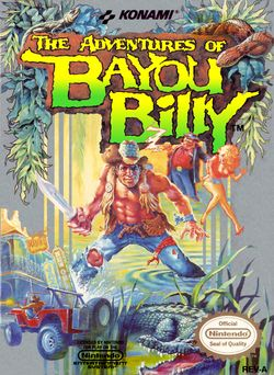 Box artwork for The Adventures of Bayou Billy.