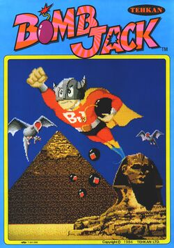 Box artwork for Bomb Jack.