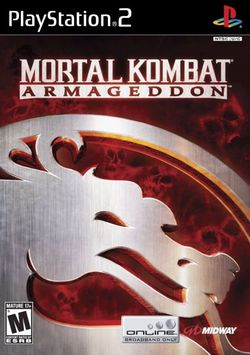 Box artwork for Mortal Kombat: Armageddon.