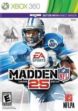 Box artwork for Madden NFL 25.