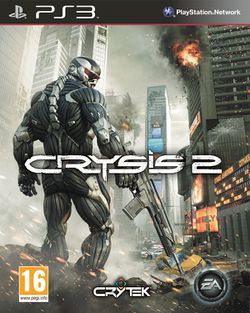 Box artwork for Crysis 2.