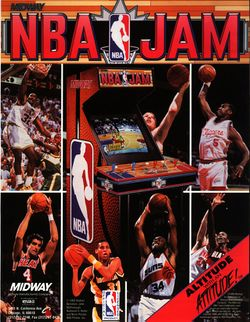 Box artwork for NBA Jam.