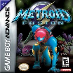Box artwork for Metroid Fusion.