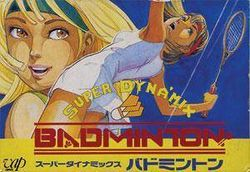 Box artwork for Super Dyna'mix Badminton.
