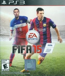 Box artwork for FIFA 15.