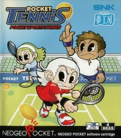 Box artwork for Pocket Tennis.