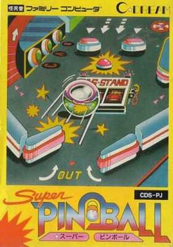 Box artwork for Super Pinball.