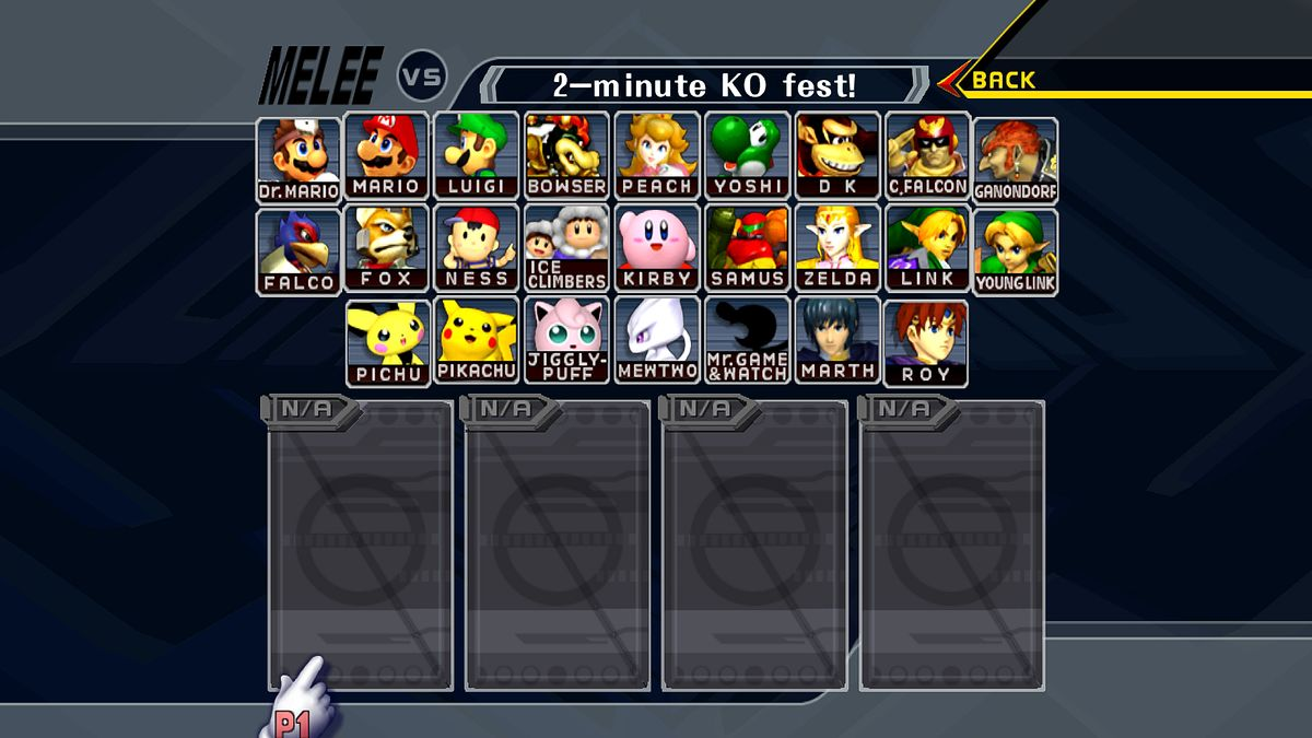 Super Smash Bros. Melee/Characters — StrategyWiki, the ...