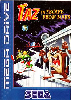 Box artwork for Taz in Escape from Mars.