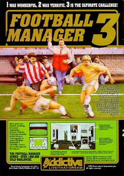 Box artwork for Football Manager 3.