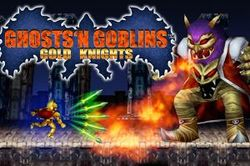 Box artwork for GHOSTS'N GOBLINS GOLD KNIGHTS.