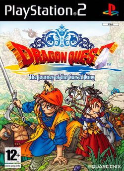Box artwork for Dragon Quest VIII: Journey of the Cursed King.