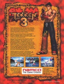 Box artwork for Tekken 3.