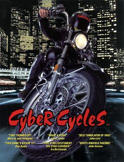 Box artwork for Cyber Cycles.