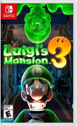 Box artwork for Luigi's Mansion 3.