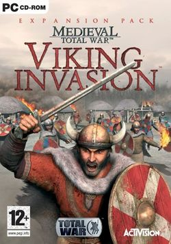 Box artwork for Medieval: Total War - Viking Invasion.