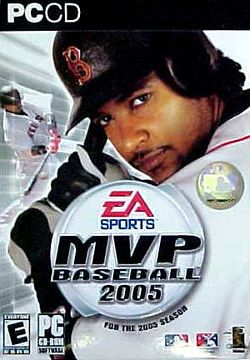 Box artwork for MVP Baseball 2005.