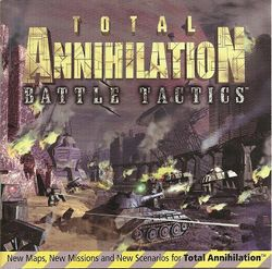 Box artwork for Total Annihilation: Battle Tactics.