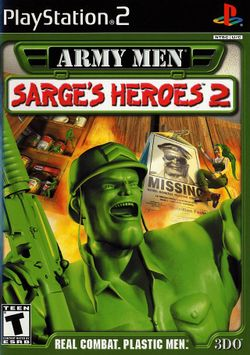 Box artwork for Army Men: Sarge's Heroes 2.