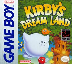 Box artwork for Kirby's Dream Land.