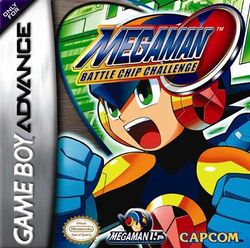 Box artwork for Mega Man Battle Chip Challenge.
