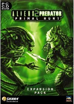 Box artwork for Aliens versus Predator 2: Primal Hunt.