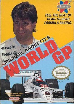 Box artwork for Michael Andretti's World GP.