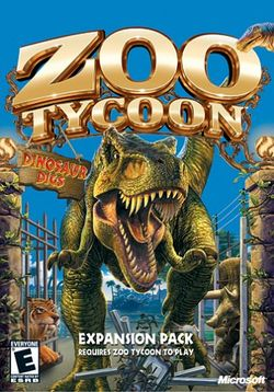 Box artwork for Zoo Tycoon: Dinosaur Digs.