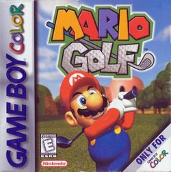 Box artwork for Mario Golf.