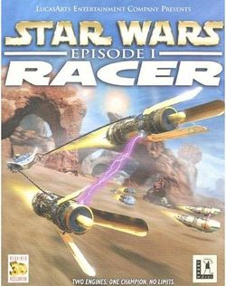 Box artwork for Star Wars: Episode I Racer.