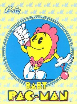 Box artwork for Baby Pac-Man.
