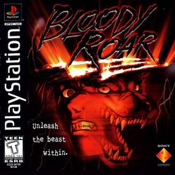 Box artwork for Bloody Roar.