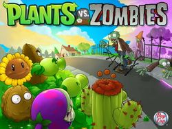 Box artwork for Plants vs. Zombies.