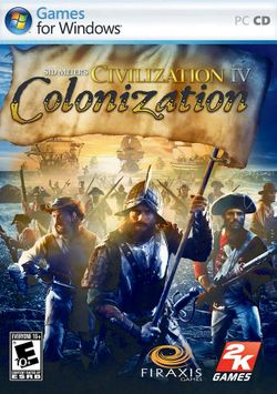 Box artwork for Sid Meier's Civilization IV: Colonization.