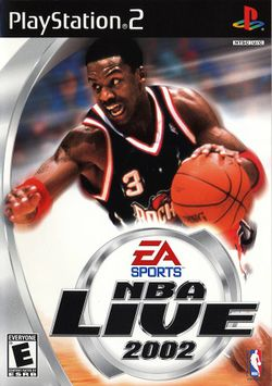 Box artwork for NBA Live 2002.