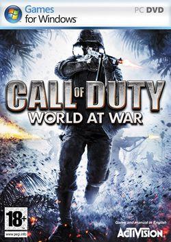 Box artwork for Call of Duty: World at War.