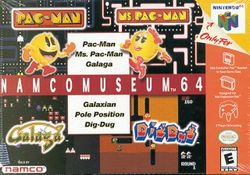 Box artwork for Namco Museum 64.