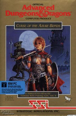 Box artwork for Curse of the Azure Bonds.