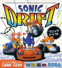 Box artwork for Sonic Drift.