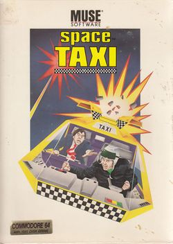 Box artwork for Space Taxi.