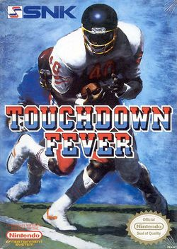 Box artwork for Touchdown Fever (NES).